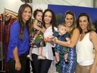 Fernanda Pontes leva a pequena Malu ao Fashion Business