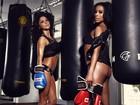 Ring girls do UFC elogiam brasileiras: 'Bumbum maior e biquíni menor'