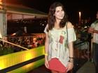 Fernanda Paes Leme curte festa no Rio