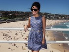 Vanessa Hudgens vai a praia em Sidney, na Austrália