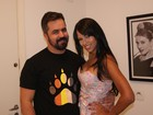 Ex-BBBs Ariadna e Marcelo Arantes se encontram em gravação