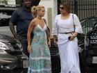 Carolina Dieckmann e Preta Gil almoçam juntas no Rio