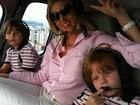 Val Marchiori posta foto com os filhos em helicóptero