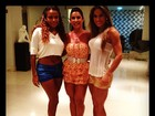 Quitéria Chagas, Scheila Carvalho e Mayra Cardi exibem os pernões