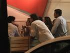 Milena Toscano, Marcelo Serrado e Marcello Novaes jantam no Rio