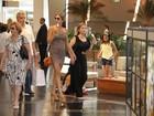 Grazi Massafera toma sorvete durante passeio em shopping