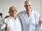 Gianecchini recebe visita do ex-presidente Lula no hospital