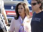 Catherine Zeta-Jones roda filme em Los Angeles, nos EUA