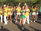 Sem Cacau, Peruche faz ensaio técnico em São Paulo