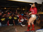 Com microshort, Mulher Melancia faz shows no Ceará