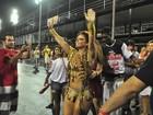 'Fico muito emocionada', diz Viviane Araújo em ensaio técnico na Sapucaí
