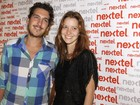 Nathalia Dill vai com o namorado a festa no Rio