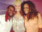 Vagner Love visita Xuxa no Projac