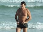 Sérgio Mallandro curte dia de praia com família no Rio