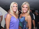Bia e Branca Feres curtem show de pagode no Rio