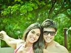 Nicole Bahls encontra Mister Ceará em viagem ao Estado
