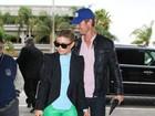 Fergie viaja com o marido Josh Duhamel