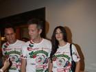 Monica Belucci e Vincent Cassel curtem feijoada no Rio