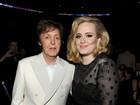 Paul McCartney posa com Lady Gaga e Adele em prêmio