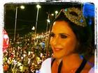 Guilhermina Guinle observa foliões em Salvador