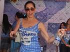 Christiane Torloni festeja 55 anos em feijoada de carnaval no Rio