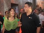 Ronaldo e Bia Anthony curtem camarote de Gilberto Gil