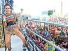 Grávida, Claudia Leitte requebra com pagodão em Salvador. Veja o vídeo!
