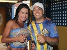 Rainha da Unidos da Tijuca, Gracyanne Barbosa comemora título com Belo