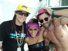 Aparecida Petrowky e Felipe Dylon curtem ressaca de carnaval no Rio