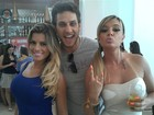 Passando bem! Ex-BBB Eliéser posta foto com Juju Salimeni e Babi Rossi