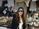 Ex-BBB Gyselle Soares faz comprinhas em Barcelona