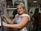 Ex-BBBs Paulinha, Ariadna e Jaqueline vão a inauguração de loja