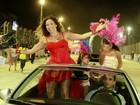 Em desfile de samba, Daniela Mercury diz: 'Queria mesmo estar num trio'