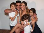 Joana Prado e Glória Maria levam filhos para ver 'Bob Esponja'