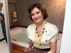 Rosamaria Murtinho vai a inauguração de salão no Rio