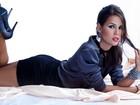 Pérola Faria mostra seu lado sexy em ensaio