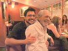 Lúcio Mauro comemora aniversário com a família e amigos
