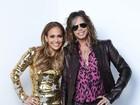 Jennifer Lopez investe em vestido dourado e justo em programa