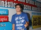 Caio Castro e Sophie Charlotte vão a festa de 'Fina Estampa'