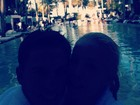 Danielle Winits posta foto com novo namorado, Amaury Nunes, no Twitter
