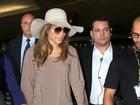 Jennifer Lopez desembarca em São Paulo