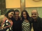 Ex-BBBs Rafa, Kelly e João Carvalho e Analice posam juntos no Rio