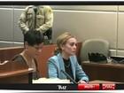 Lindsay Lohan chega para audiência sobre sua condicional em Los Angeles