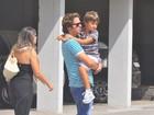 Amigos e familiares vão à missa de sétimo dia de Chico Anysio, no Rio