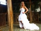 Joana Machado se veste de noiva para ensaio de revista