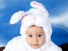 Fofura! Solange Couto publica foto do filho vestido de coelhinho