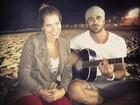 Ex-BBBs Adriana e Rodrigão fazem luau