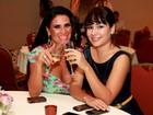 Ex-BBB Jakeline e Solange Gomes vão a festa em hotel no Rio