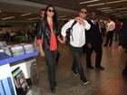 Matthew McConaughey e Camila Alves desembarcam em São Paulo