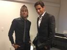 Neymar e Ganso posam cheios de estilo em Brasília